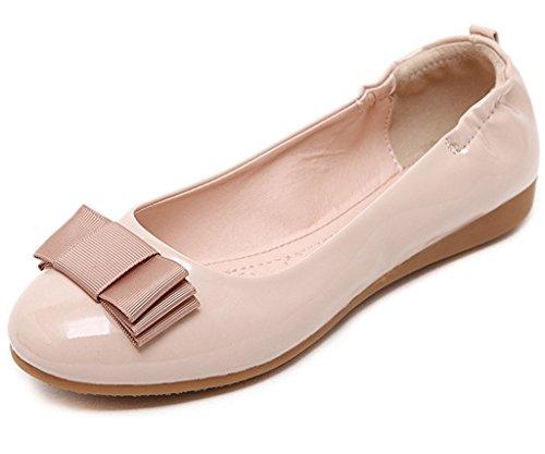 Minetom Mujer Primavera Otoño Casual Zapatos Suave Forro Plegable Zapatos Bailarina Bowknot...