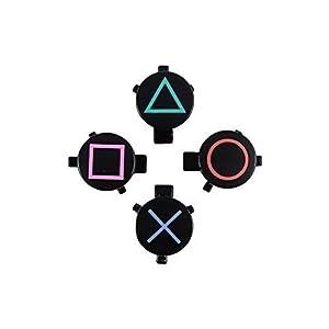 Original Sony PS4 Playstation 4 Dualshock Aktionstasten Tasten Buttons Schwarz für Ps4 Controller
