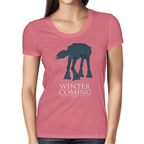 TEXLAB - AT AT Winter Is Coming - Damen T-Shirt, Größe XL, pink