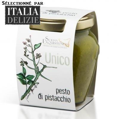 PESTO DE PISTACHES VERTES DE SICILE 130GR - PRODUIT ARTISANAL ITALIEN