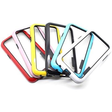 Dual Colores del caso del capítulo de parachoques para Samsung i8552 Galaxy Win.