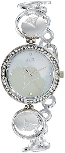 Titan Analog Mother of Pearl Dial Women's Watch - 2539SM01