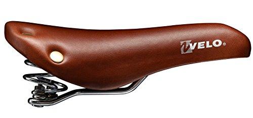 3072 Velo Fahrradsattel für Eingangräder, Vintage-Stil mit Federn und Nieten -