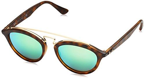Ray Ban Unisex Sonnenbrille Gatsby II Mehrfarbig (Gestell: Havana, Gläser verspiegelt grün 60923R)), Medium (Herstellergröße: 50)