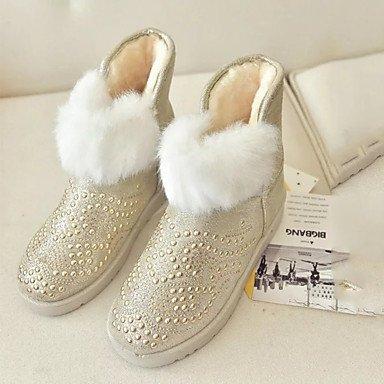 premium selection 56a67 25d34 Rtry Femmes Chaussures Pu Automne Hiver Doublure Doublure Confort Nouveauté  Bottes De Neige Bottes De Mode