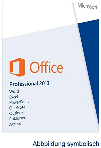 MS Office 2013 Professional Plus Vollversion Deutsch für 1 PC (32/64-Bit) + ISO-DVD von Hesch-Direkt