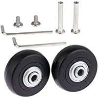 Black Luggage Suitcase / Inline Outdoor Skate Replacement Wheels with ABEC 608zz Bearings (50×18mm)