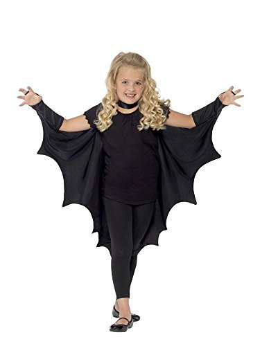 shoperama Vampir Fledermaus-Flügel für Kinder Halloween-Kostüm Umhang Mädchen Jungen Cape