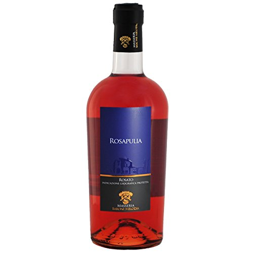 "Masseria Barone Melodia Vino Rosato Rosé""Rosapulia"" Malvasia Nera & Negroamaro IGP Salento 2017-1 bottiglia da 750 ml"