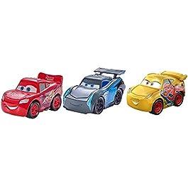 Cars- Disney Pixa Mini Racers 3 Series 3-Pack, Pacchetto 3 Veicoli Die Cast Assortiti, Giocattolo per Bambini 3+ Anni…