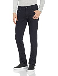 Wrangler Men's Skanders Slim Fit Jeans (8907222959531_W24185W2298B_32W x33L_Dark Blue)