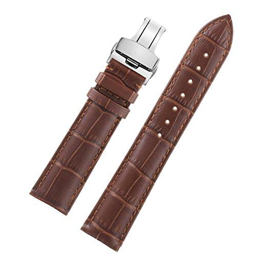 22mm-brun-bracelet-bracelet-en-cuir-durable-decent-pour-les-hommes-fermoir-papillon-argent-rembourra