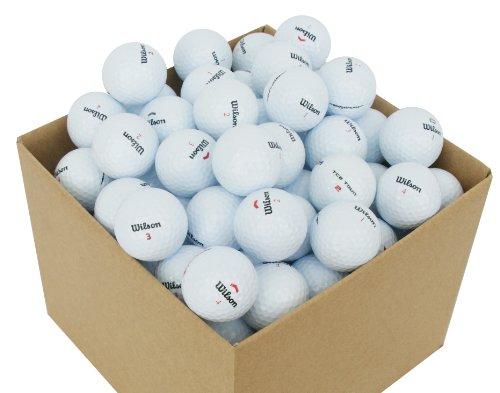 Second Chance VAL-100-BOX-WIL Wilson Premium Grade A Balles de golf de lac 100 unités Blanc