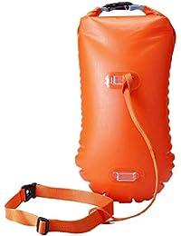 LIOOBO Swim Safety Float y drybag para Open Water Swimmers Triathletes Kayakers y snorkelers Boa Altamente Visible Flotador para Safe…