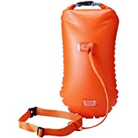 LIOOBO Swat Safety Float y Drybag para Nadadores de Aguas Abiertas Triathletes Kayakers y Snorkelers Flotador de boya Altamente Visible para Entrenamiento de natación Segura (Naranja)