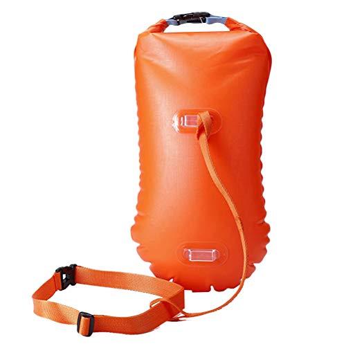 VORCOOL Open Water Swim Boje Ultraleicht Sicherheits Schwimmer Schwimmsack für Schwimmer Triathleten Schnorchler Surfer (Orange)