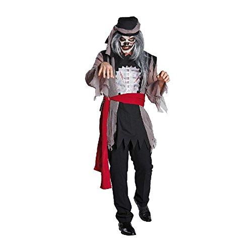 Zombie Pirat Herren Kostüm zu Halloween Karneval Fasching (Kostüm Pirat Herren Zombie)