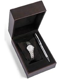 Cross  CR4005 - Reloj de cuarzo para mujer, con correa de acero inoxidable, color plateado