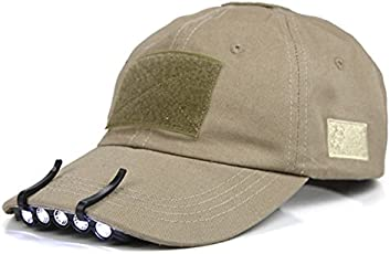 CadetBlue 5 LED Military Style clip on Hat Headlamp for Camping (Black, SF040)