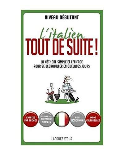 Coffret L'italien tout de suite ! (livre + 1 CD)
