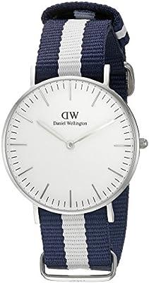 Daniel Wellington 0602DW - Reloj con correa de acero para mujer, color blanco / gris