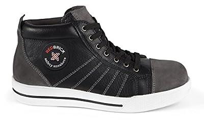2W4 - RedBrickSicherheitsschuhe S3 sportlich Sneaker Kappe und Sohle