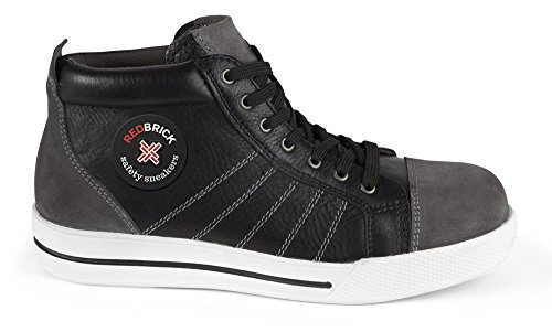 2W4 - RedBrickSicherheitsschuhe S3 sportlich Sneaker Chucks Kappe und Sohle
