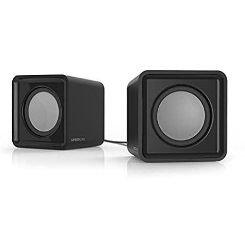 Speedlink USB-betriebene Stereo-Lautsprecher - TWOXO Stereo Speakers USB / 3,5 (5W RMS Ausgangsleistung - Frequenzbereich 50 Hz – 20 kHz - Maße: 62 × 60 × 62mm (B×T×H)) Computer / Laptop (Pc Stereo Lautsprecher)
