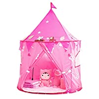 Nice2you Kids Play Tent Girls Pink Princess Castle Portable Playhouse Outdoor Play Children