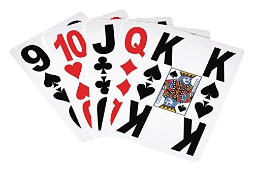 Eurosell 2 x XL Kartenspiel Karton mit großen Zeichen für Senioren & Sehbehinderung