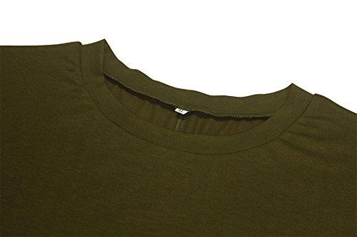 Donna Vestiti Eleganti Manica Lunga Senza Spalline Vintage Hippie Casual Sciolto Estivi Corti Vestitini Abito Maglietta Camicia Vestito Verde