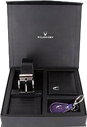 WildHorn Black Mens Wallet (GFTSETBOX 008)