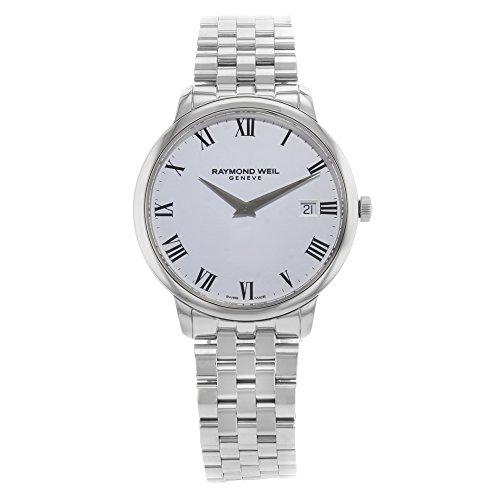 Raymond Weil Herren Analog Quarz Uhr mit Edelstahl Armband 5588-ST-00300