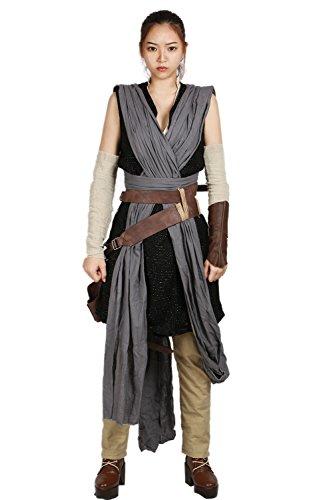 amen Cosplay Outfit Erwachsene Suit mit Gürtel Zubehör für SW 8 Verrücktes Kleid Kleidung (Rey Kostüm Damen)