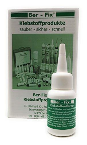 Ber-Fix Klebstoffentferner 20ml für Industriekleber/ Textilkleber/ Sekundenkleber