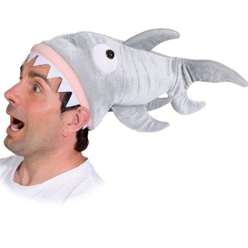 Hut Hai, grau aus Plüsch (Hai Hut Kostüm)