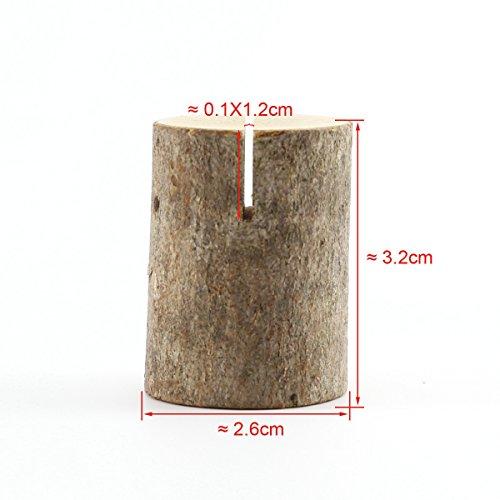 50 x Holz Holzsteg Kartenhalter Platzkarte Tischkartenhalter Namesschild Fotohalter Hochzeit Deko - 8