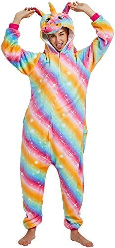 Erwachsene Für Kostüm Kitty - Kitty's Vogue Apparel Chichidog Halloween-Pyjama Homewear Einteiler Cosplay Kostüm Loungewear Gr. (Passende Höhe: 160 cm/ 168 cm) Medium, Colorful Sky