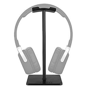 Supporto per Cuffie Forrader Universale in Alluminio Supporto per Cuffia Auricolari Showing Display Headset Stand Appendiabiti per Tutte le Cuffie Dimensioni Nero