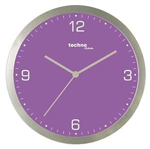 Technoline WT 9000-Horloge murale Quartz-Violet