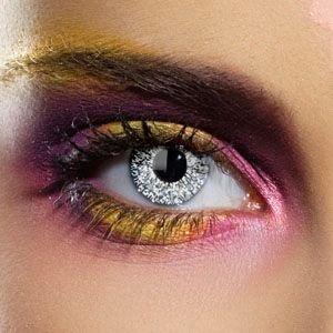 82121 GLIMMER SILVER gefärbte Kontaktlinsen Crazy Kontaktlinsen, Farbspaß, Top-Qualität.