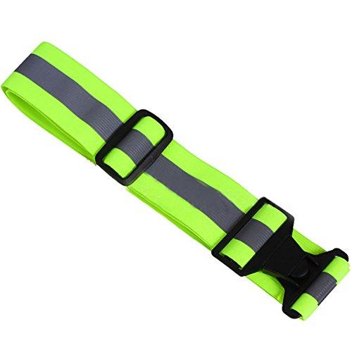 125 Faseroptik (Forfar Reflektierender Bund Gürtel Stripe High Visibility Elastic Nachtlauf Radfahren Jogging Klettern Sicherheit)