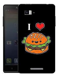"Humor Gang I Love Burger Printed Designer Mobile Back Cover For ""Lenovo Vibe P1"" (3D, Matte Finish, Premium Quality, Protective Snap On Slim Hard Phone Case, Multi Color)"