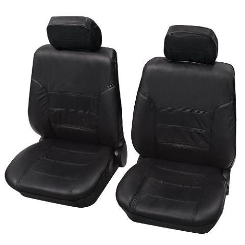 Housses pour sièges de voitures auto, Cuir véritable, Garniture pour sièges avants, Toyota Camry ohne Seitenairbag, noir anthracite