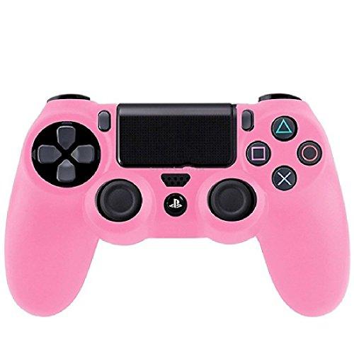 Haut Kasten Abdeckung für Steuerpult Sony Playstation 4 weiches haltbares Silikon Rosa (Handtuch & Hafen Strand)