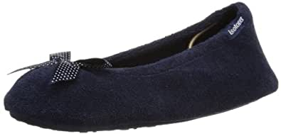 Isotoner  Stretch Terry, chaussons femme - Bleu - Bleu marine, Large (Large UK)