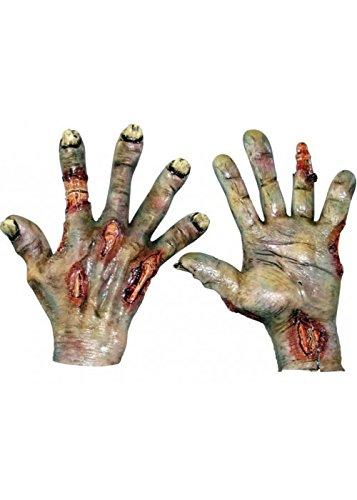 Kostüm Für Fäulnis Erwachsene - Erwachsene Herren Deluxe Fäulnis Zombie Handschuhe