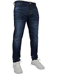 New para hombre elástico Skinny Slim Fit Flex Jeans Pantalón Vaquero Elástico 98% algodón y 2% elástico pantalones de cintura 28–40