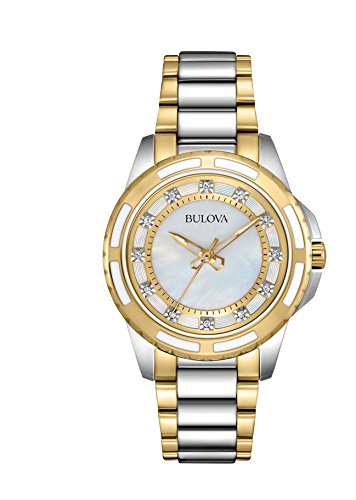 bulova-diamond-womens-quartz-watch-with-mother-of-pearl-dial-analogue-display-and-gold-silver-ion-pl
