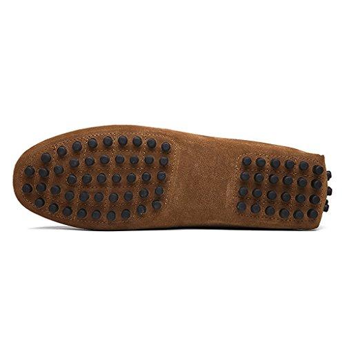 Oderola Herren Mokassin Wildleder Loafers Schuhe Bootsschuhe Flache Fahren Halbschuhe Khaki